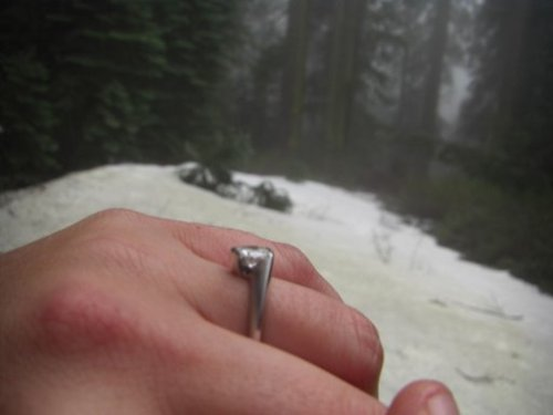 The engagement ring from my Hero.