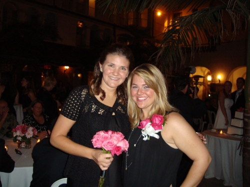 Hot Donna (my gorgeous BFF) and I at the reception.