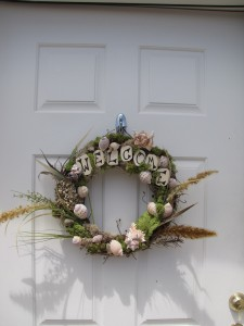 ocean seashell wreath