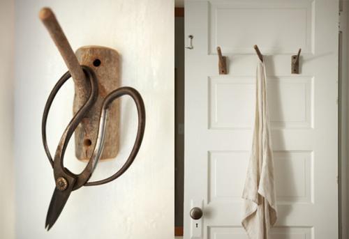 handmade wooden hooks