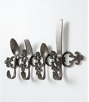 anthropologie silverware key rack wall hook