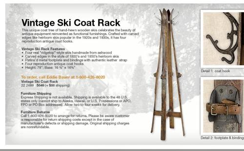 ski rack coat rack